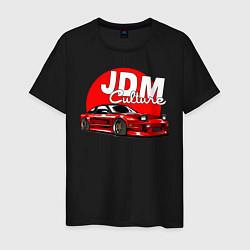 Футболка хлопковая мужская JDM Culture цвета черный — фото 1