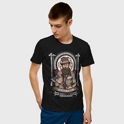 Футболка хлопковая мужская Достоевский Федор цвета черный — фото 2