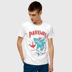 Футболка хлопковая мужская Parkway Drive: Unbreakable цвета белый — фото 2