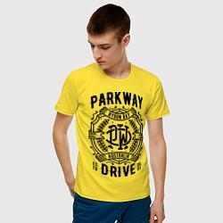 Футболка хлопковая мужская Parkway Drive: Australia цвета желтый — фото 2