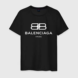 Футболка хлопковая мужская Balenciaga Paris цвета черный — фото 1