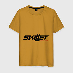 Мужская хлопковая футболка с принтом Skillet Comatose, цвет: горчичный, артикул: 10017327400001 — фото 1