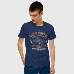 Футболка хлопковая мужская Deep Purple: Speed King цвета тёмно-синий — фото 2