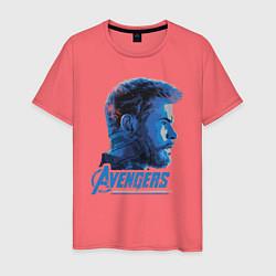Футболка хлопковая мужская Thor: Avengers цвета коралловый — фото 1