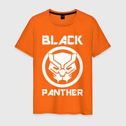 Футболка хлопковая мужская Черная пантера цвета оранжевый — фото 1