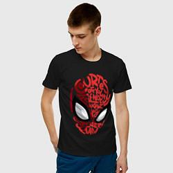 Футболка хлопковая мужская Spider-Man цвета черный — фото 2