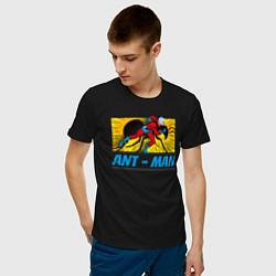Футболка хлопковая мужская Ant-man цвета черный — фото 2