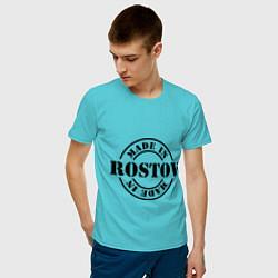 Футболка хлопковая мужская Made in Rostov цвета бирюзовый — фото 2