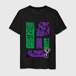 Футболка хлопковая мужская Joker Emotions цвета черный — фото 1