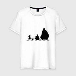 Футболка хлопковая мужская Totoro Beatles - фото 1
