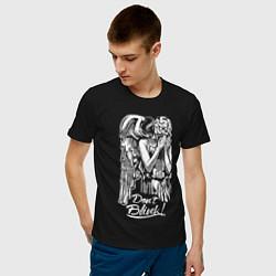 Мужская хлопковая футболка с принтом Don't Blink, Доктор Кто, цвет: черный, артикул: 10199742700001 — фото 2