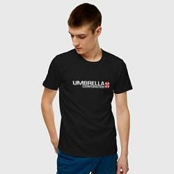Футболка хлопковая мужская UMBRELLA CORP цвета черный — фото 2