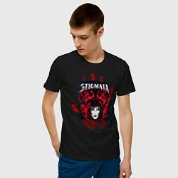 Футболка хлопковая мужская Stignata цвета черный — фото 2