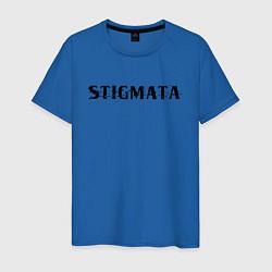 Мужская хлопковая футболка с принтом Stigmata, цвет: синий, артикул: 10203594900001 — фото 1
