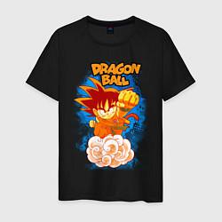 Футболка хлопковая мужская Little Goku цвета черный — фото 1