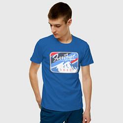 Футболка хлопковая мужская Эльбрус 5642 цвета синий — фото 2