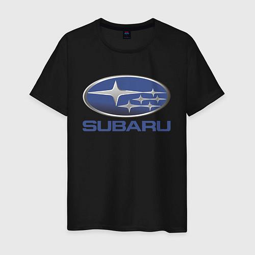 Мужская футболка SUBARU / Черный – фото 1