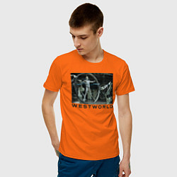 Футболка хлопковая мужская Westworld цвета оранжевый — фото 2