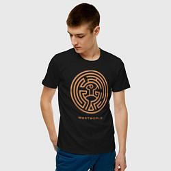 Футболка хлопковая мужская Westworld labyrinth цвета черный — фото 2