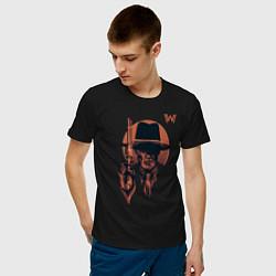 Футболка хлопковая мужская Man in Black цвета черный — фото 2