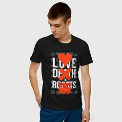 Футболка хлопковая мужская LOVE DEATH ROBOTS LDR цвета черный — фото 2