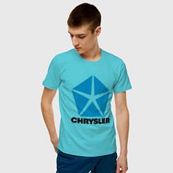 Футболка хлопковая мужская Chrysler цвета бирюзовый — фото 2