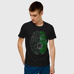 Футболка хлопковая мужская Программист цвета черный — фото 2