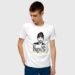Футболка хлопковая мужская Noize MC цвета белый — фото 2