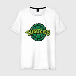 Футболка хлопковая мужская TURTLES цвета белый — фото 1