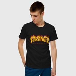 Футболка хлопковая мужская STRANGER THINGS цвета черный — фото 2