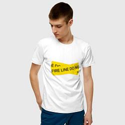 Футболка хлопковая мужская OFF-WHITE цвета белый — фото 2