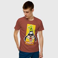 Футболка хлопковая мужская Гуффи цвета кирпичный — фото 2