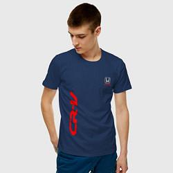 Мужская хлопковая футболка с принтом Honda CR-V Z, цвет: тёмно-синий, артикул: 10245319500001 — фото 2