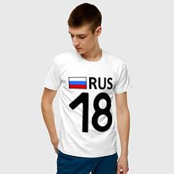 Футболка хлопковая мужская RUS 18 цвета белый — фото 2