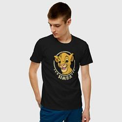Мужская хлопковая футболка с принтом Young Simba, цвет: черный, артикул: 10266095500001 — фото 2