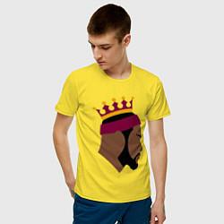 Мужская хлопковая футболка с принтом LeBron, цвет: желтый, артикул: 10274331500001 — фото 2