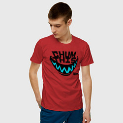 Футболка хлопковая мужская Chum This цвета красный — фото 2
