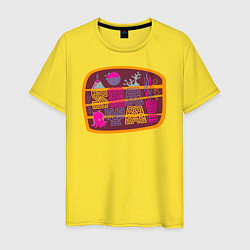 Футболка хлопковая мужская Sea ya! цвета желтый — фото 1