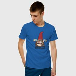 Мужская хлопковая футболка с принтом Беспредел!, цвет: синий, артикул: 10275017100001 — фото 2
