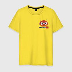 Футболка хлопковая мужская Baymax цвета желтый — фото 1