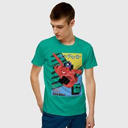 Футболка хлопковая мужская Бэймакс Город Героев 6 цвета зеленый — фото 2