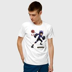 Футболка хлопковая мужская Хиро цвета белый — фото 2