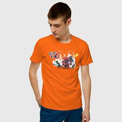Футболка хлопковая мужская Big Hero 6 цвета оранжевый — фото 2