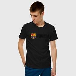 Футболка хлопковая мужская Barcelona FC цвета черный — фото 2