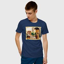 Футболка хлопковая мужская Max Barskih цвета тёмно-синий — фото 2