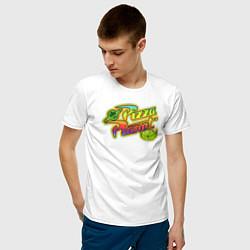 Футболка хлопковая мужская Pizza Planet цвета белый — фото 2