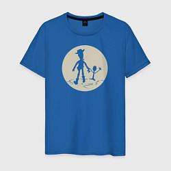 Футболка хлопковая мужская Вуди и Форки цвета синий — фото 1