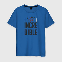 Футболка хлопковая мужская The Incredibles цвета синий — фото 1