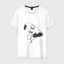 Футболка хлопковая мужская Суперсемейка цвета белый — фото 1