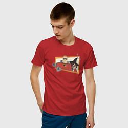 Футболка хлопковая мужская The Incredibles цвета красный — фото 2